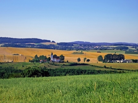 Typical Summer Czech Landscape in Southern Bohemia