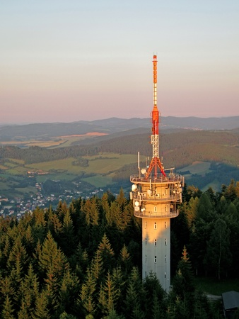 Military transmitter on the hill of Svatobor in Sumava in Czech republic Stock Photo - 10718302