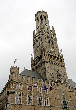 belfort: Belfort (Belfry) in old Brugge City in Belgium