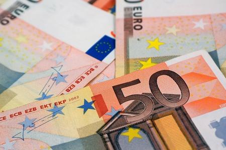 Lot van 50 Euro Bankbiljetten, Europees Geld