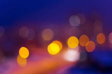 Blurred night view of city in the night  Stock Photo