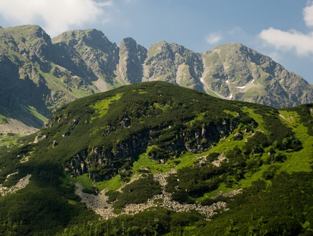 Panorama of the peaks in the Western Tatras (Rohace) Stock Photo - 13873912