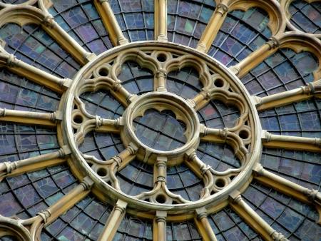 Detail van de gotische stijl in de Westminster Abbey, Londen