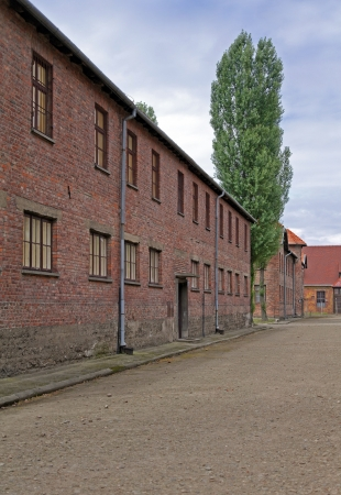 Block of houses in Auschwitz photo