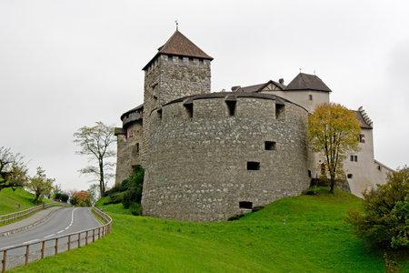 Kasteel in Vaduz, Liechtenstein, de woonplaats van de koninklijke familie