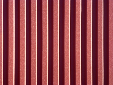 New red roofing from stainless metal plate photo