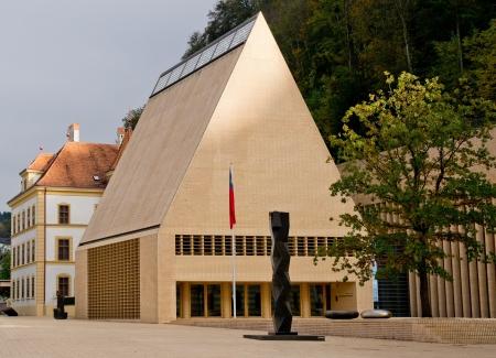 The house of parliament in Vaduz in Liechtenstein, Europe