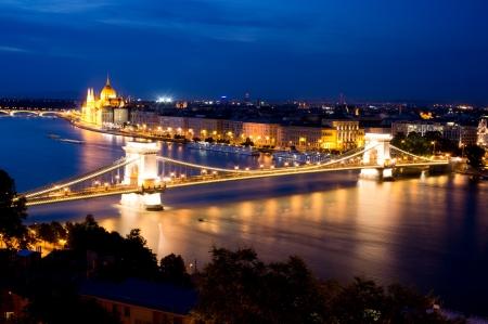 szechenyi: Szechenyi Chain Bridge in Budapest, Hungary