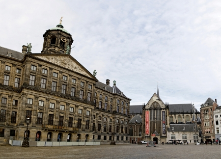 City Hall and New Church in Dam Square, Amsterdam