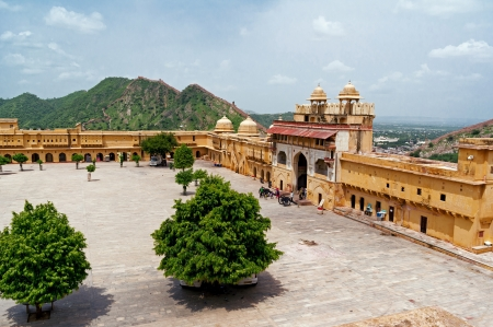 Amber Fort square near Jaipur in Rajasthan, India