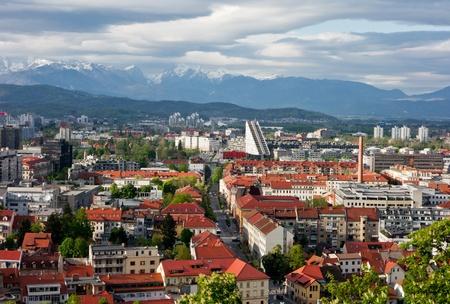 Beautiful landscape of Ljubljana city in Slovenia  photo