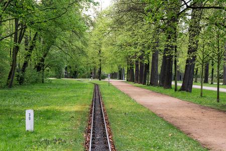 garten: Light railway in a Grosser Garten in Dresden Germany