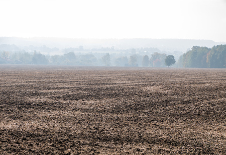 smog: Brown field in an air smog pollution Stock Photo