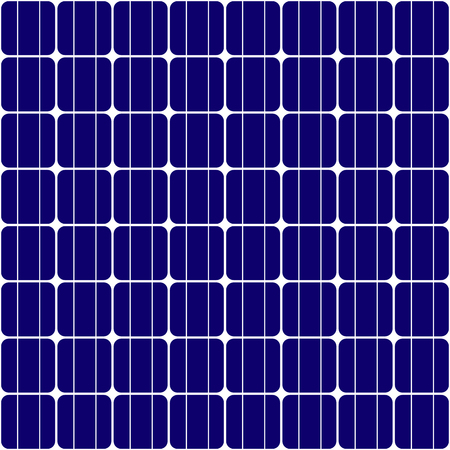 Seamless texture of solar panel used to generate green electricity Illustration