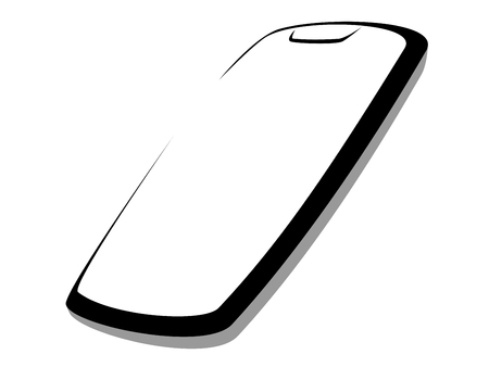 Dynamic vector illustration of a modern smartphone with a typical bezel on the top of the screen
