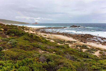 Landscape of Western Australia near Cape Naturaliste and the Gull Rock