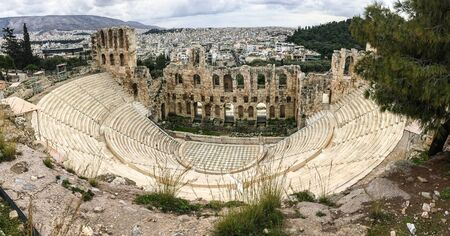 The Herodes Theatre (Odeon of Herodes) in ancient Acropolis, Athens, Greece