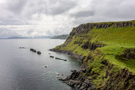 Landscape visible from Rubha nam Brathairean (Brothers Point) in Isle of Skye in Scotland
