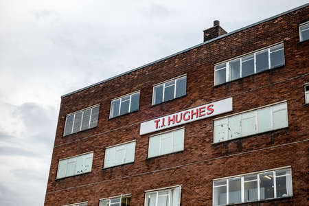 GLASGOW, SCOTLAND - JULY 31, 2019: The historical building of T.J. Hughes department store which sells furniture , garden equipment and other stuff in Glasgow. 報道画像