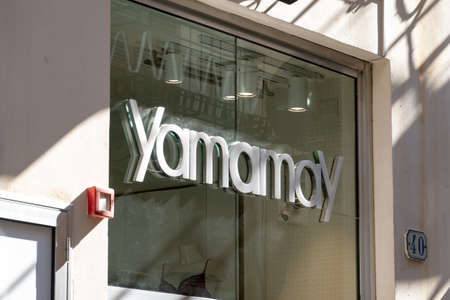 CEFALU, SICILY - FEBRUARY 11, 2020: The logo of Yamamay luxury boutique store which sells underwear for women Editorial