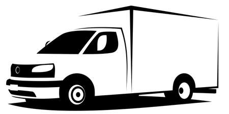 Dynamic vector illustration of an American ambulance van used for transporting patients. It can be used as a logo of hospital service.
