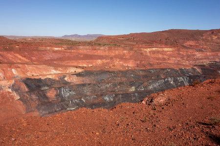 Active pit of iron ore mine in Pilbara region in Western Australia