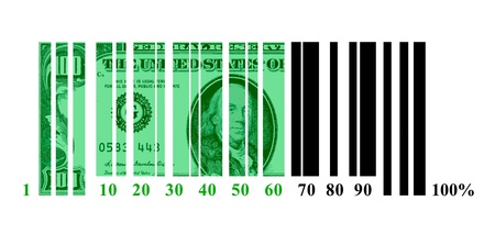 Dollar loading in the form of a shaped code