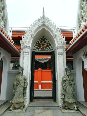 the entrance of the temple Stock Photo
