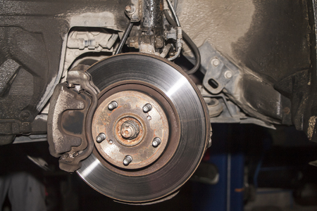 Brake disk of the car.