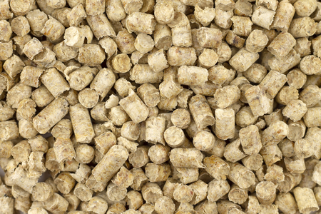 Pellets from sawdust, a background, texture.