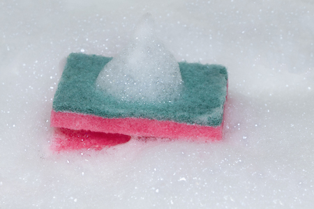 Scouring pad or Scourer with foam. Imagens