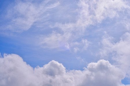 billow: Blue sky with white clouds Stock Photo