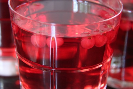 red currant: Red currant jelly.