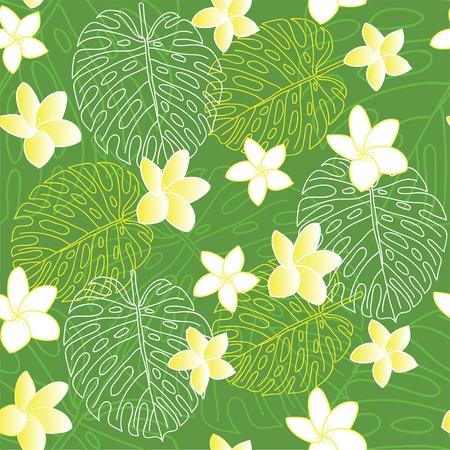 Fresh and green Hawaiian seamless pattern