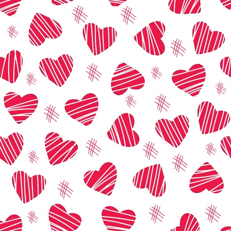 Fun and lovely hearts and scratch pattern