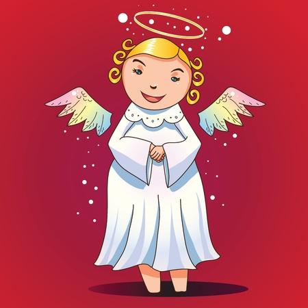 Cute chubby angel ready for fun Vector