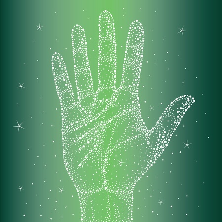 Universe in your hand Vector