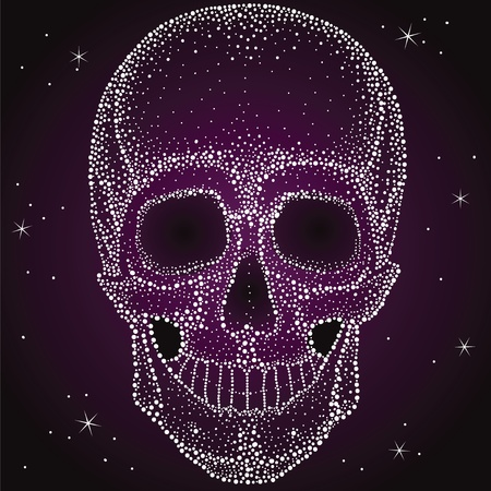 scull: Skull from shiny dots, very nice with lacquer print Illustration