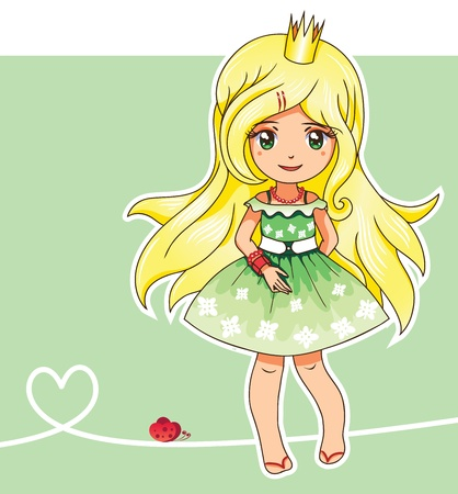 blonde teenage girl: Or may be spring princess (Fairy series 3)