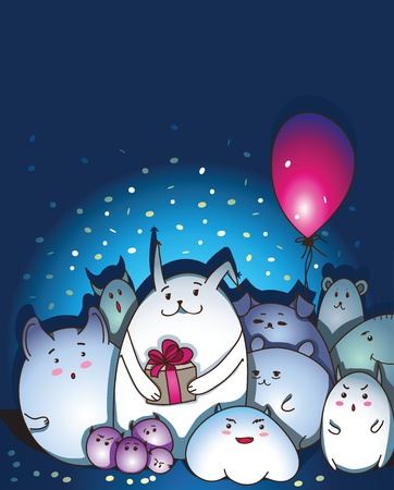 congratulate: Magic creatures congratulate you with Happy Birthday!