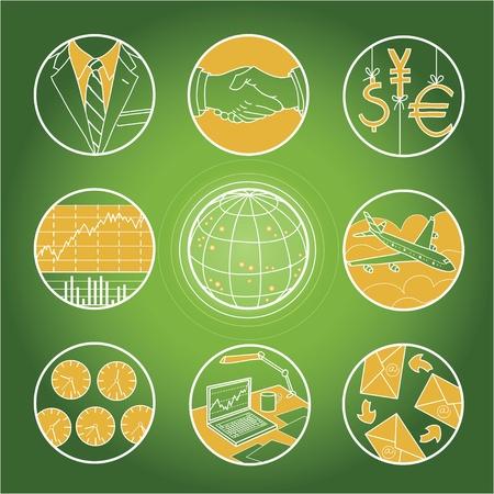 Symbols of hard work and big money Stock Vector - 11002255