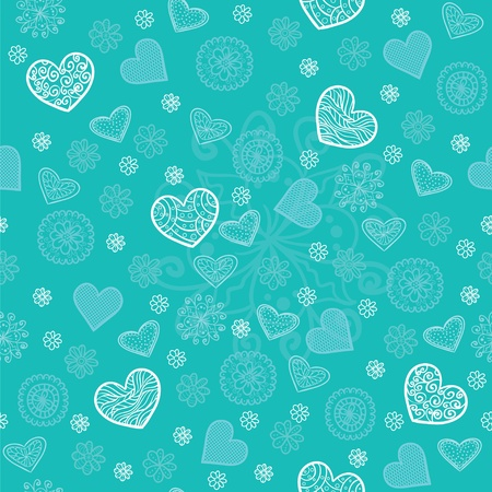 Mint and sugar seamless pattern Vector
