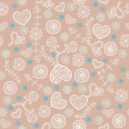 mint: Cocoa marshmallow and mint seamless pattern