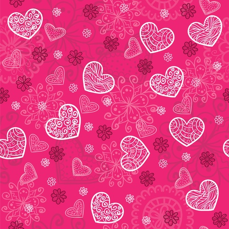 Pink and bright seamless pattern Vector
