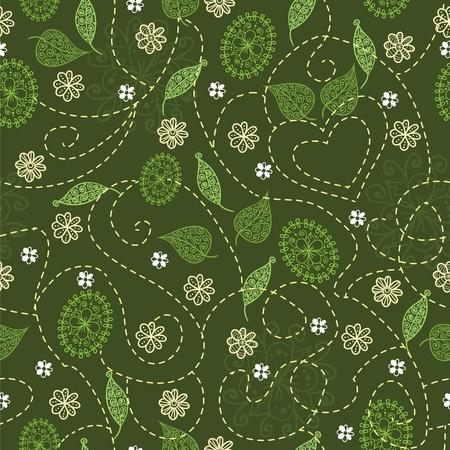 작은 숲: Birch grove seamless pattern