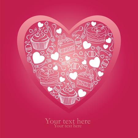 For my precious sweetheart Stock Vector - 11966499