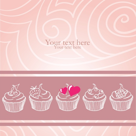 vanilla cupcake: For my lovely sweetheart Illustration