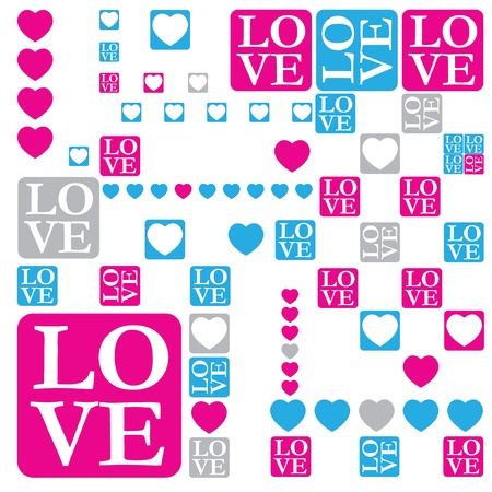 Love and heart concept background Stock Vector - 12054943