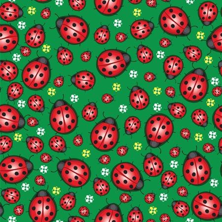 millions: Summer background with millions of ladybug Illustration