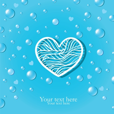 Pure love card with drops Vector
